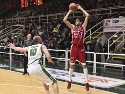 Davide Pascolo, 27 anni, ala alla seconda stagione con Milano, dopo essere esploso con l'Aquila Trento CIAMILLO