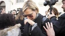 Simona Ventura in lacrime. Ansa