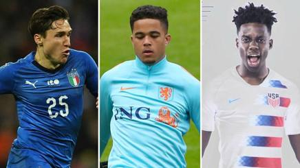 Federico Chiesa, Justin Kluivert e Timothy Weah