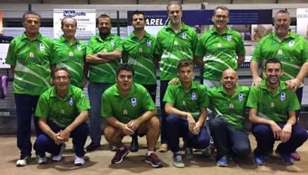 Gli atleti della Bocce Mondovì, neopromossi in serie A