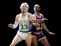 Due attori nei ruoli di Larry Bird e Magic Johnson. Ap