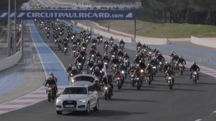 La parata di Ducati Monster al Paul Ricard