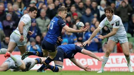 Garry Ringrose in azione in Leinster-Saracens. Getty
