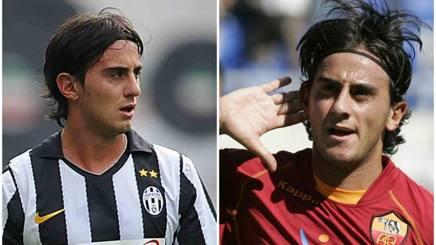 Alberto Aquilani con la maglia di Juventus e Roma