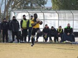 Mohamed Traorè in azione (Foto Terrenzio/facebook Avezzano)