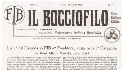 Il quindicinale torinese Il Bocciofilo, fondato nel 1925