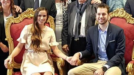 27d3f44655dd Luciano De Cecco con la neosposa Paula Ormaechea