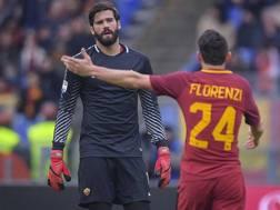 Il portiere brasiliano Alisson, 25 anni e Alessandro Florenzi, 27.