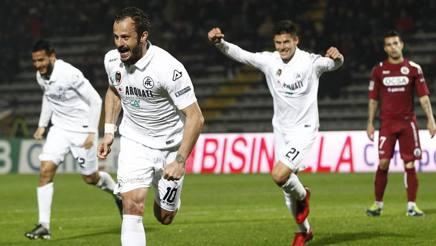 Alberto Gilardino, 35 anni, attaccante dello Spezia. Lapresse
