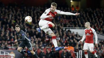 Lo splendido gesto tecnico di Ramsey per il momentaneo 3-1. Ap