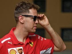 Sebastian Vettel in Bahrain. Afp