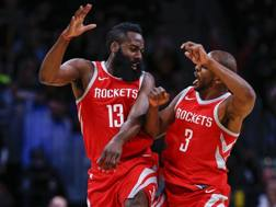 James Harden e Chris Paul, le colonne dei Rockets 2017-18. Ap