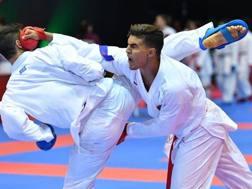 Achraf Ouchen (Mar), vice campione del Mondo nei +84 kg, in azione. L'idolo di casa sarà in gara a Rabat