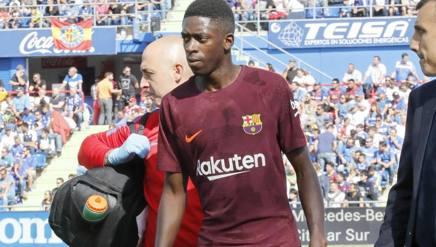 L'attaccante del Barcellona Ousmane Dembélé, 20 anni. Epa