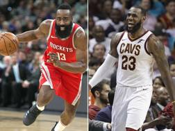 James Harden e LeBron James, candidati mvp.