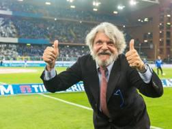 Massimo Ferrero, presidente della Sampdoria. Ansa