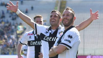 Di Gaudio, gran protagonista della vittoria del Parma sul Frosinone. Lapresse