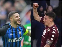 Icardi contro Belotti, oggi alle 12.30 allo stadio Grande Torino