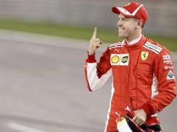 Per Vettel è la pole numero 51 in Formula 1. Epa