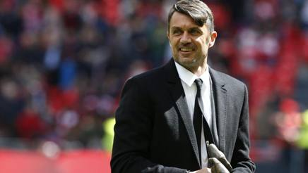 L'ex difensore del Milan Paolo Maldini, 49 anni. Ansa