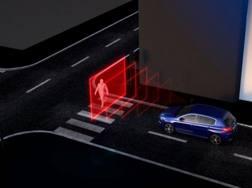 Un pedone riconosciuto dal sistema di guida autonoma