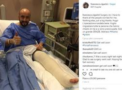 Franco Cigarini saluta dal suo profilo Instagram