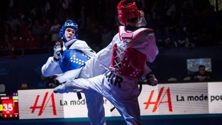 Gabrile Caulo in azione nel torneo di qualificazione ai Giochi chiuso al terzo posto