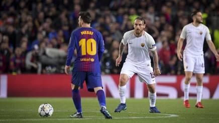 Messi contro De Rossi, la sfida di stasera all'Olimpico.