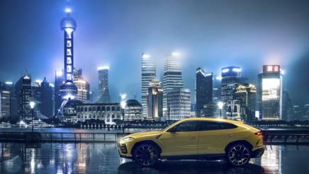 Il Lamborghini Urus a Shanghai
