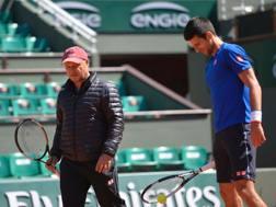 Novak Djokovic con Marian Vajda
