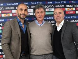 Marco Di Vaio Club manager del Bologna, Giovanni Grassi EDU In-Forma(Zione) e Renzo Cerè del Bologna.