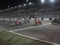 Il via del GP del Qatar 2018. Getty