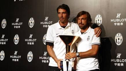Buffon e Pirlo nel 2012. Lapresse