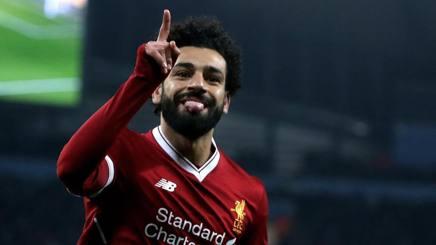 Mohamed Salah, attaccante egiziano del Liverpool. Ansa