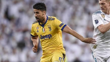 Sami Khedira durante Real-Juve. LaPresse