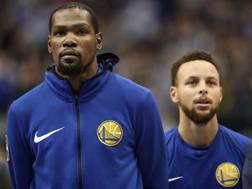 Kevin Durant deve sostituire Steph Curry come leader dei Warriors. Afp