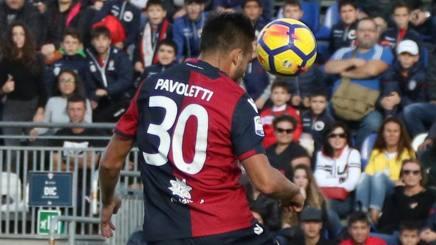Leonardo Pavoletti, centravanti del Cagliari. Ansa