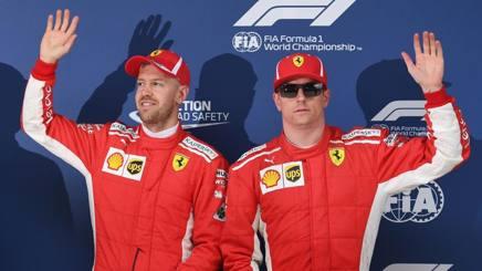 Vettel e Raikkonen dopo la qualifica in Cina