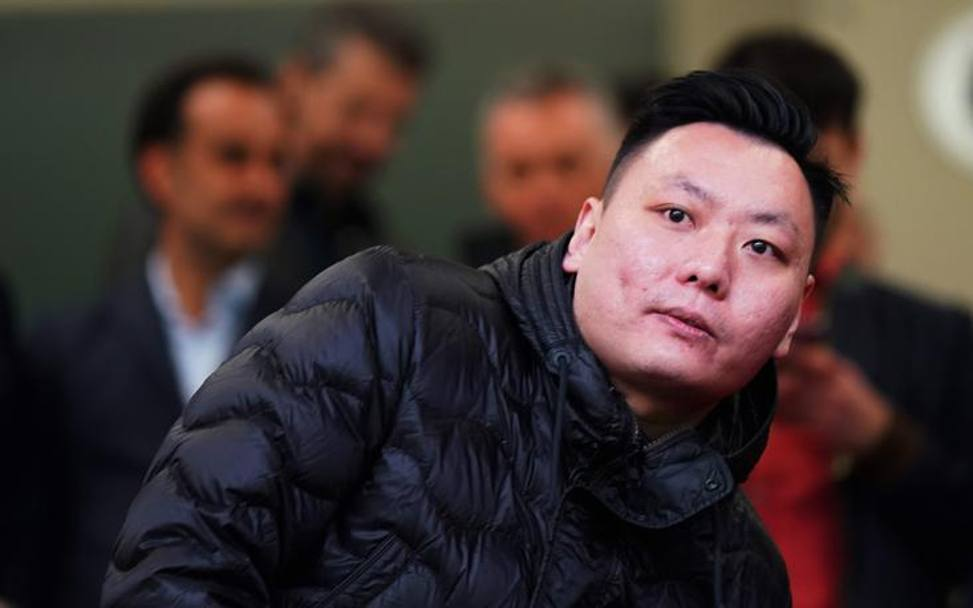 David Han Li a San Siro. LaPresse