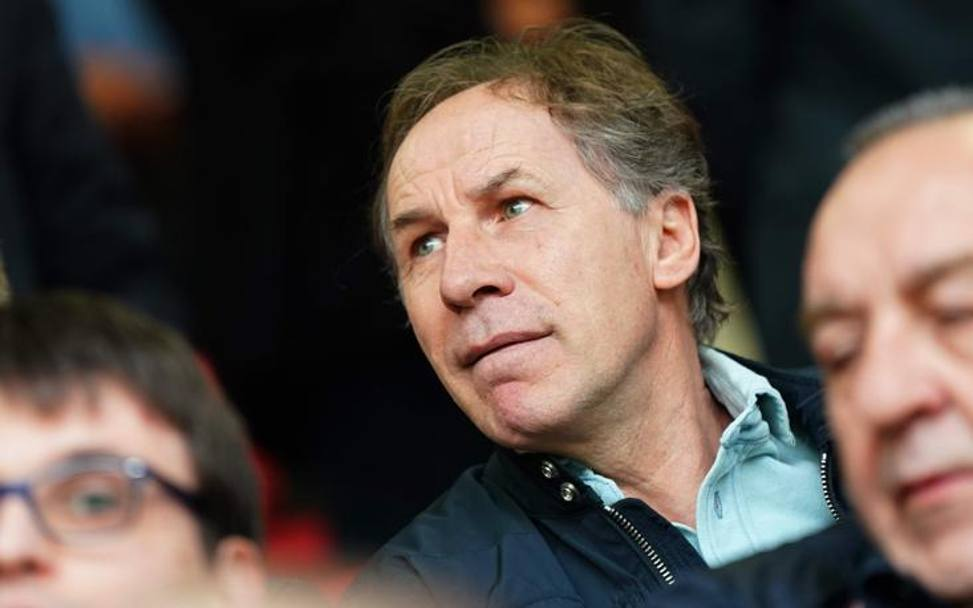 Franco Baresi in tribuna. LaPresse