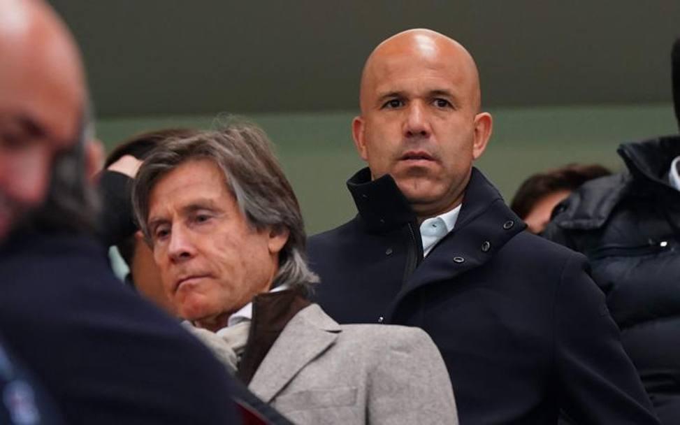 Gigi Di Biagio, attuale c.t. dell'Italia col t.m. azzurro Gabriele Oriali. LaPresse