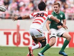 Paddy Jackson con la maglia dell'Irlanda contro il Giappone. Getty