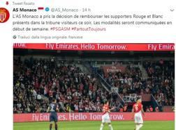 Il tweet del Monaco