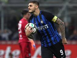 Il centravanti dell'Inter Mauro Icardi, 25 anni. Getty