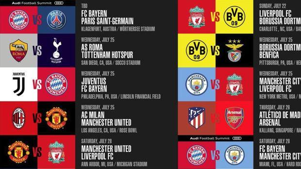 Calendario Barcellona.Icc 2018 Milan Inter Juve E Roma Estate Di