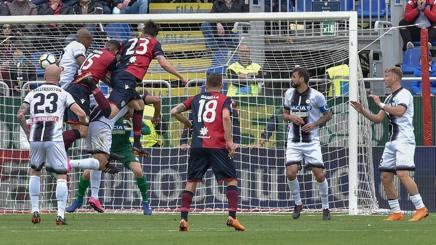 Luca Ceppitelli, 28 anni, segna contro l'Udinese. Lapresse