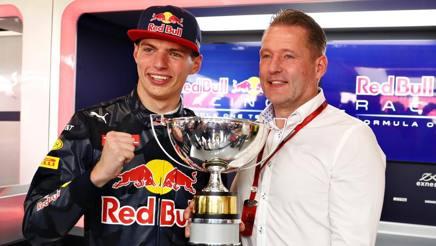 Max Verstappen con papà Jos. Getty