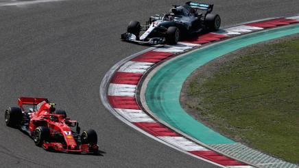 La Ferrari soffre meno le prestazioni della Mercedes. Getty