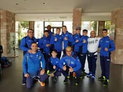 Foto di gruppo per gli azzurrini   impegnati agli Europei Youth di pugilato
