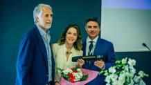 Giovanni Malagò, presidente del Coni, a TaaekwonDonna con l'attrice Claudia Gerini (cintura nera taekwondo) e Angelo Cito, presidente Fita